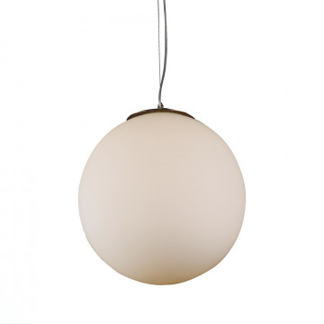 Подвесной светильник ST Luce Piegare SL290.503.01, 1xE27x40W, никель, белый, металл, стекло