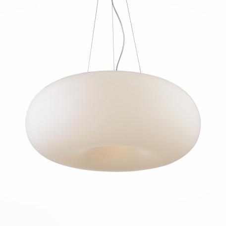 Подвесной светильник ST Luce Sfera SL297.553.05, 5xE27x60W, серебро, белый, металл, стекло