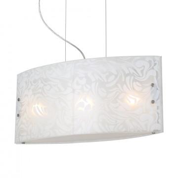 Подвесной светильник ST Luce Lista SL475.503.03, 3xE27x60W, хром, белый, металл, стекло
