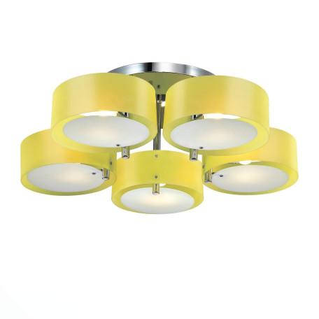 Потолочная люстра Evoluce Foresta SL483.092.05, 5xE27x60W, хром, желтый, металл, пластик
