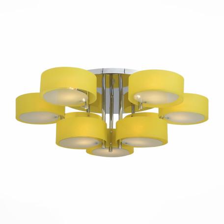 Потолочная люстра Evoluce Foresta SL483.092.09, 9xE27x60W, хром, желтый, металл, пластик