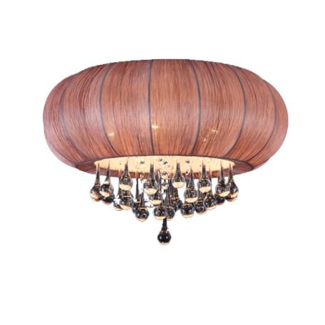 Потолочная люстра ST Luce Preferita SL350.082.05, 5xE14x40W, хром, коричневый, прозрачный, металл, текстиль, стекло