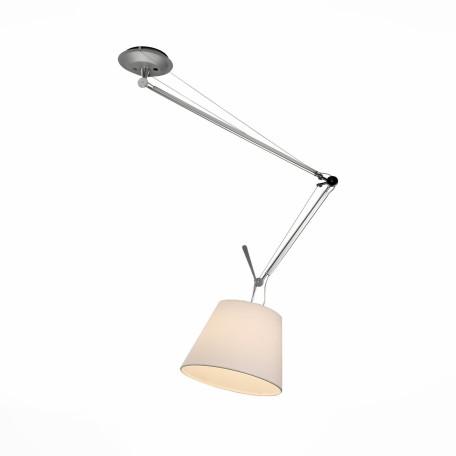 Потолочный светильник на складной штанге ST Luce Reduzion SL464.103.01, 1xE27x100W, хром, белый, металл, текстиль