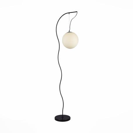 Торшер ST Luce Piegare SL290.405.01, 1xE27x60W, черный, белый, металл, стекло