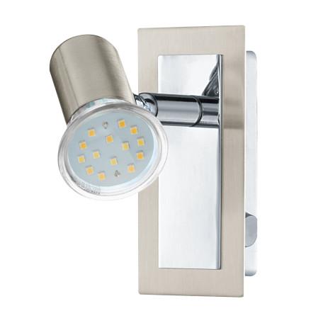 Настенный светильник с регулировкой направления света Eglo Rottelo 90914, 1xGU10x5W, никель, хром, металл