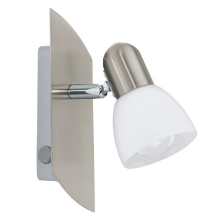 Настенный светильник с регулировкой направления света Eglo Enea 90982, 1xE14x25W, никель, белый, металл, стекло