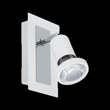 Настенный светильник с регулировкой направления света Eglo Sarria 94958, 1xGU10x5W, белый, хром, металл