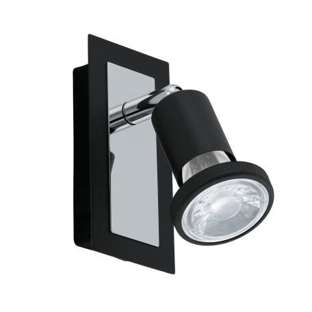 Настенный светильник с регулировкой направления света Eglo Sarria 94963, 1xGU10x5W, черный, металл