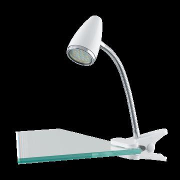Светильник на прищепке Eglo Riccio 1 94329, 1xGU10x3W, белый, хром, металл