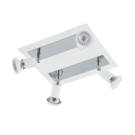 Потолочная люстра с регулировкой направления света Eglo Sarria 94962, 4xGU10x5W, белый, хром, металл