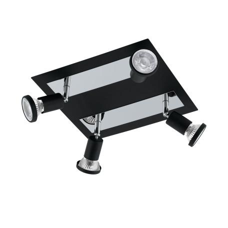 Потолочная люстра с регулировкой направления света Eglo Sarria 94966, 4xGU10x5W, черный, металл