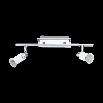 Потолочный светильник с регулировкой направления света Eglo Eridan 90833, 2xGU10x5W, белый, хром, металл