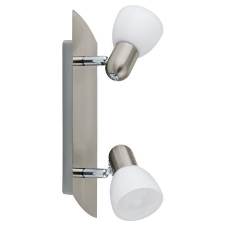 Потолочный светильник с регулировкой направления света Eglo Enea 90984, 2xE14x40W, никель, белый, металл, стекло