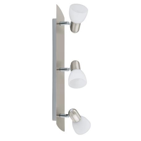 Потолочный светильник с регулировкой направления света Eglo Enea 90985, 3xE14x40W, никель, белый, металл, стекло