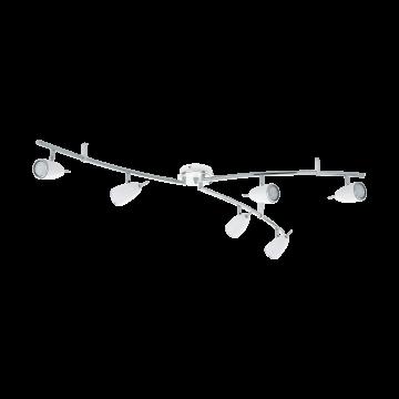 Потолочный светильник с регулировкой направления света Eglo Riccio 2 93134, 6xGU10x3W, белый, хром, металл
