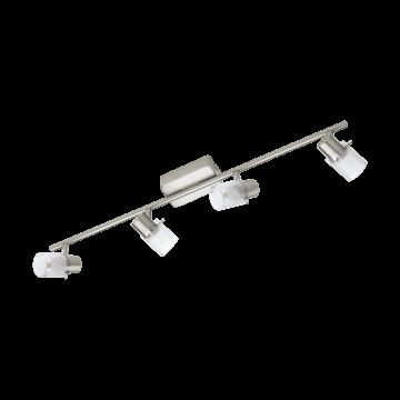 Потолочный светодиодный светильник с регулировкой направления света Eglo Orvieto 1 93704, никель, белый, металл, стекло