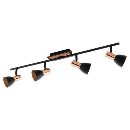Потолочный светильник с регулировкой направления света Eglo Barnham 94587, 4xGU10x3,3W, медь, черный, металл