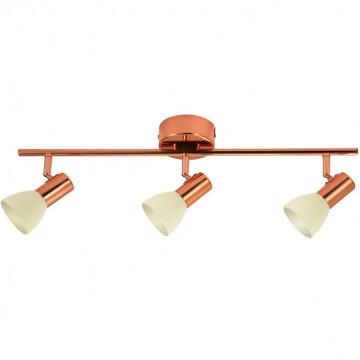 Потолочный светодиодный светильник с регулировкой направления света Eglo Glossy 2 94738, LED 15W 3000K 1440lm, медь, бежевый, металл, стекло