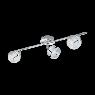 Потолочный светильник с регулировкой направления света Eglo Nocito 1 95479, 3xGU10x3,3W, хром, белый, металл