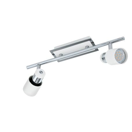 Потолочный светильник с регулировкой направления света Eglo Davida 92085, 2xGU10x5W, белый, хром, металл