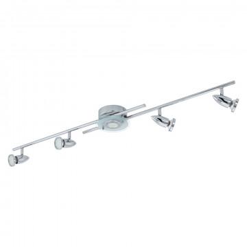 Потолочный светильник с регулировкой направления света Eglo Cerbero 93116, 5xGU10x3W, хром, белый, металл, стекло