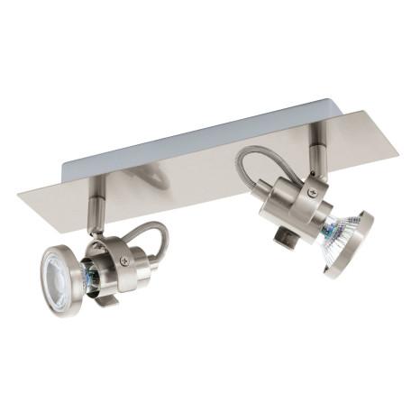Потолочный светильник с регулировкой направления света Eglo Tukon 3 94145, 2xGU10x3,3W, никель, металл
