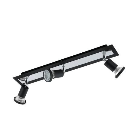 Потолочный светильник с регулировкой направления света Eglo Sarria 94965, 3xGU10x5W, черный, металл