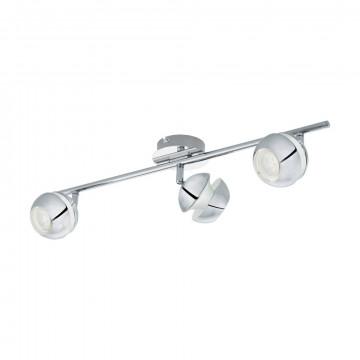 Потолочный светильник с регулировкой направления света Eglo Nocito 1 95479, 3xGU10x3,3W, хром, металл