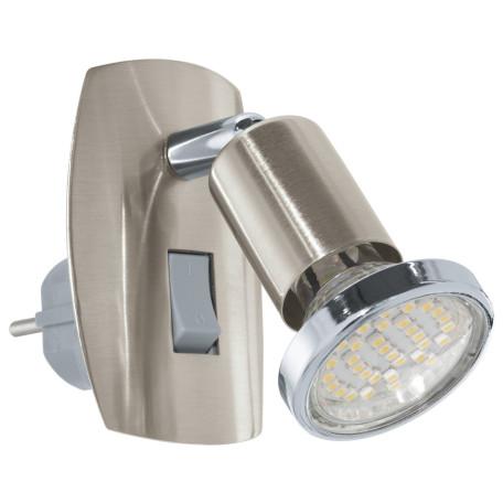 Штекерный светильник с регулировкой направления света Eglo Mini 4 92924, 1xGU10x3W, никель, металл