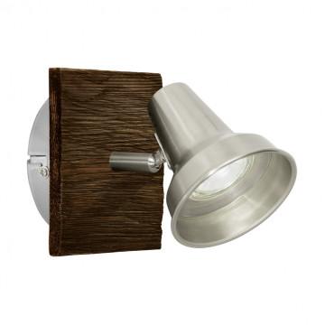 Настенный светильник с регулировкой направления света Eglo Filipina 95646, 1xGU10x3,3W, коричневый, никель, дерево, металл