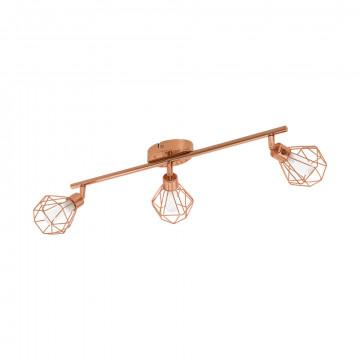 Потолочный светильник с регулировкой направления света Eglo Zapata 95547, 3xG9x3W, медь, металл
