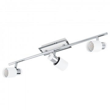 Потолочный светильник с регулировкой направления света Eglo Davida 92086, 3xGU10x5W, белый, хром, металл