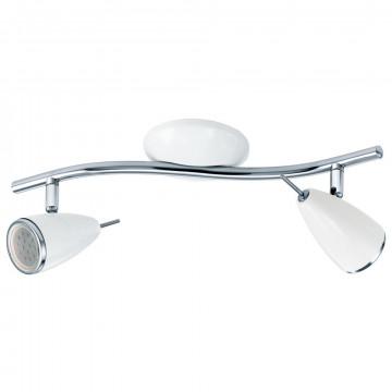 Потолочный светильник с регулировкой направления света Eglo Riccio 2 93129, 2xGU10x3W, белый, хром, металл