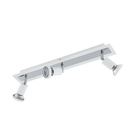 Потолочный светильник с регулировкой направления света Eglo Sarria 94961, 3xGU10x5W, белый, хром, металл