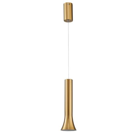 Подвесной светодиодный светильник De Markt Ракурс 631017901, LED 9W 4000K 720lm, золото, металл