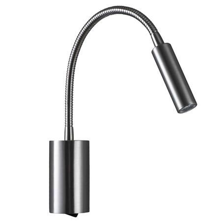 Настенный светодиодный светильник с регулировкой направления света Loft It Stick 10009SN, LED 3W 3200K, никель, металл