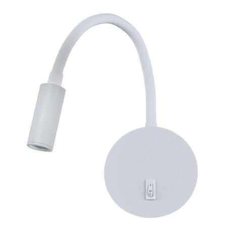 Настенный светодиодный светильник с регулировкой направления света Loft It Stick 10010WH, LED 3W 3200K, белый, металл