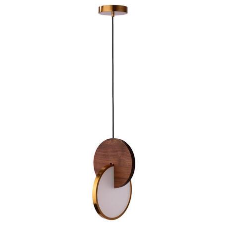 Подвесной светодиодный светильник Loft It Eclipse 9970C, LED 22W 3000K, золото, коричневый, металл, пластик