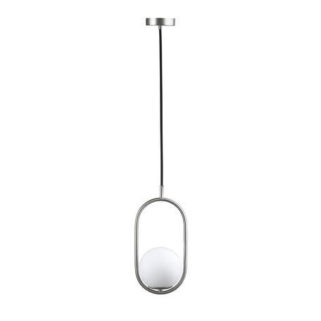Подвесной светильник Loft It Glob LOFT2595-B, 1xE27x40W, никель, белый, металл, стекло