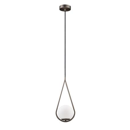 Подвесной светильник Loft It Glob LOFT2599-B, 1xE27x40W, никель, белый, металл, стекло