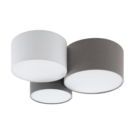Потолочная люстра Eglo Pastore 97479, 3xE27x60W, белый, серый, коричневый, металл, текстиль, пластик