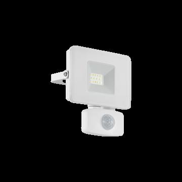 Светодиодный прожектор Eglo Faedo 3 33156, IP44, LED 10W 5000K 900lm, белый, металл, металл со стеклом, стекло