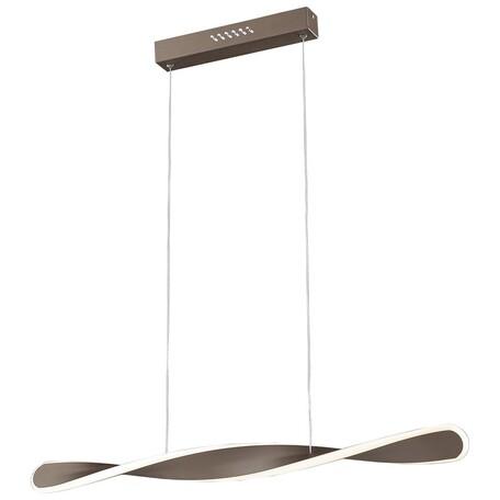 Подвесной светодиодный светильник Wertmark Fagotto WE442.01.603, LED 35,9W 3000K, коричневый, металл, металл с пластиком