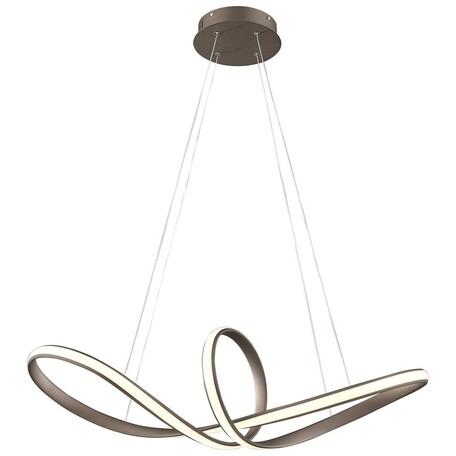 Подвесной светодиодный светильник Wertmark Nodo WE446.01.603, LED 40W 3000K, коричневый, металл, металл с пластиком