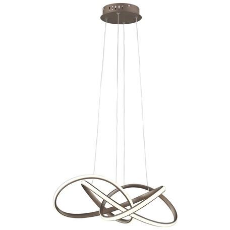 Подвесной светодиодный светильник Wertmark Nodo WE448.01.603, LED 43W 3000K, коричневый, металл, металл с пластиком