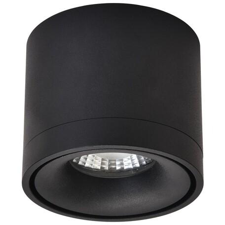 Потолочный светодиодный светильник Wertmark Botten WE831.01.027, LED 7W 4000K 260lm, черный, металл