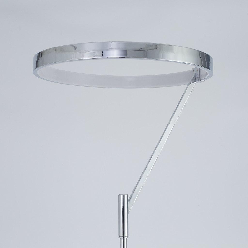 Светодиодный торшер Citilux Джек CL226921, LED 36W 3000-3200K 1080lm, хром, металл, металл с пластиком - фото 6
