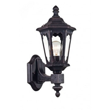 Настенный фонарь Maytoni Oxford S101-42-11-B, IP44, 1xE27x60W, черный, прозрачный, металл, металл со стеклом