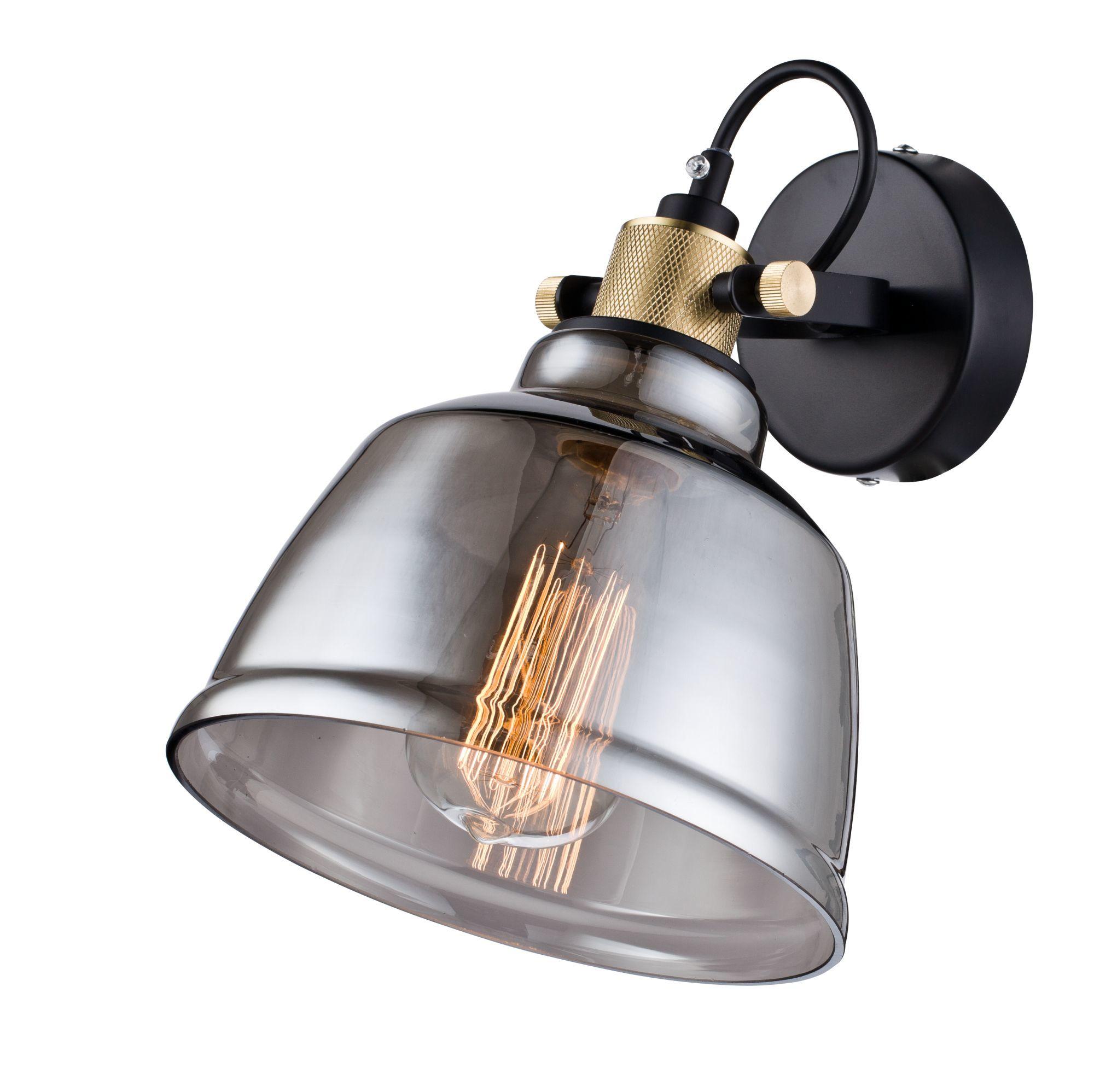Настенный светильник с регулировкой направления света Maytoni Modern Irving T163-01-C, 1xE27x40W, черный, дымчатый, металл, стекло - фото 2