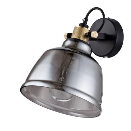 Настенный светильник с регулировкой направления света Maytoni Modern Irving T163-01-C, 1xE27x40W, черный, дымчатый, металл, стекло - миниатюра 3